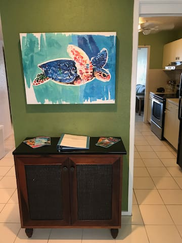 Right inside our condo you will find our welcome book. It is filled with information on local resturants, museums, boat charter companies, and beaches to help you maximize your trips potential!