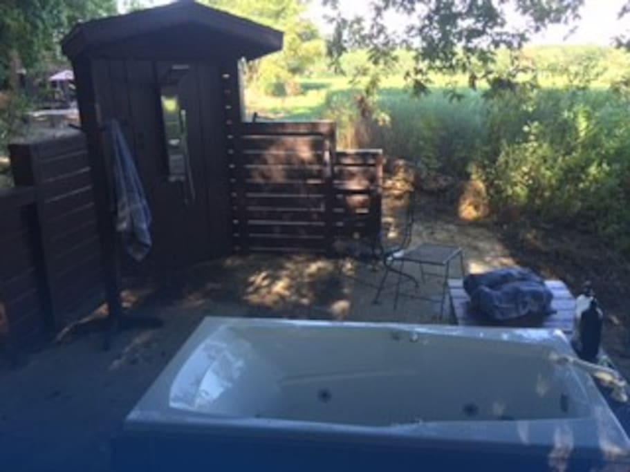 Take your jet  bath or shower in the great outdoors