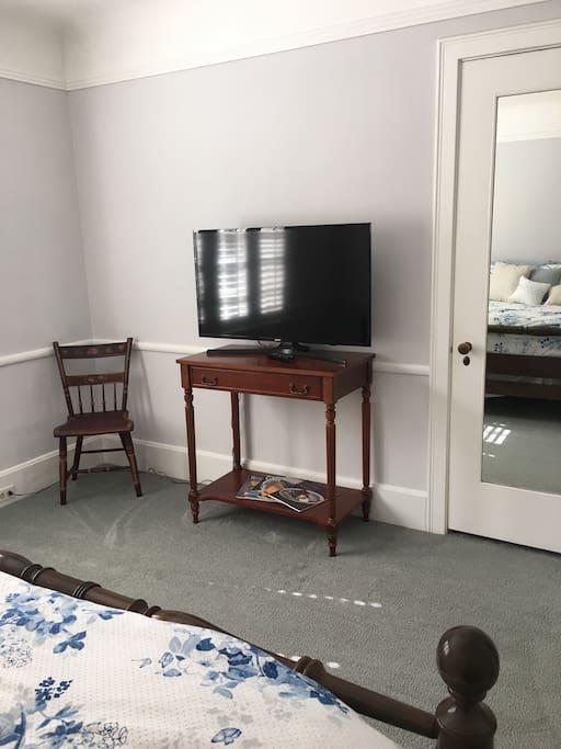 40 inch flat screen TV.