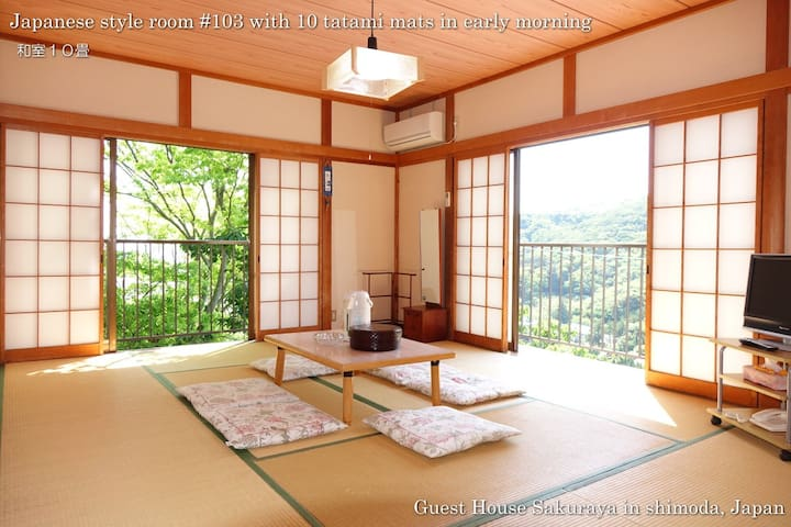 Japanese Sea View Sunny Room103 for Max 5 people