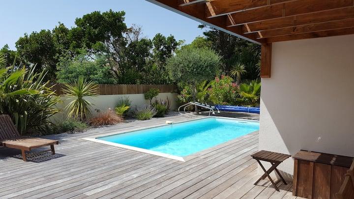 maison cap ferret avec piscine chauffée