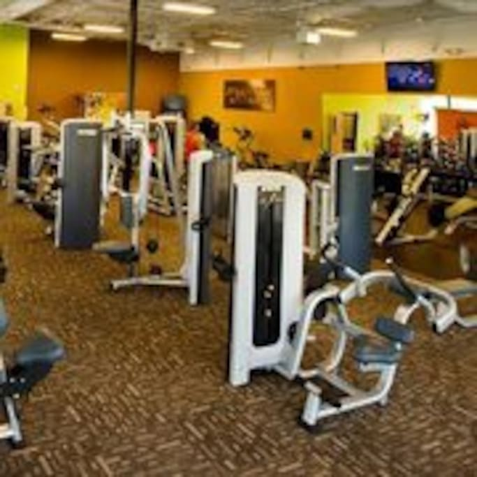 Access to three different health clubs.