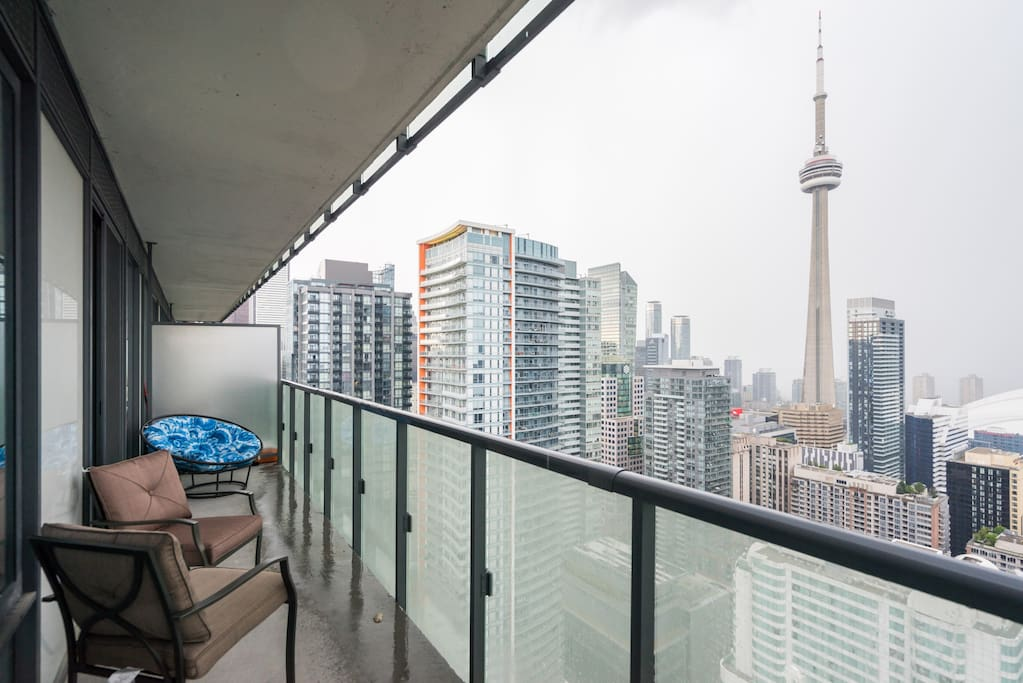 Private balcony with cityscape views