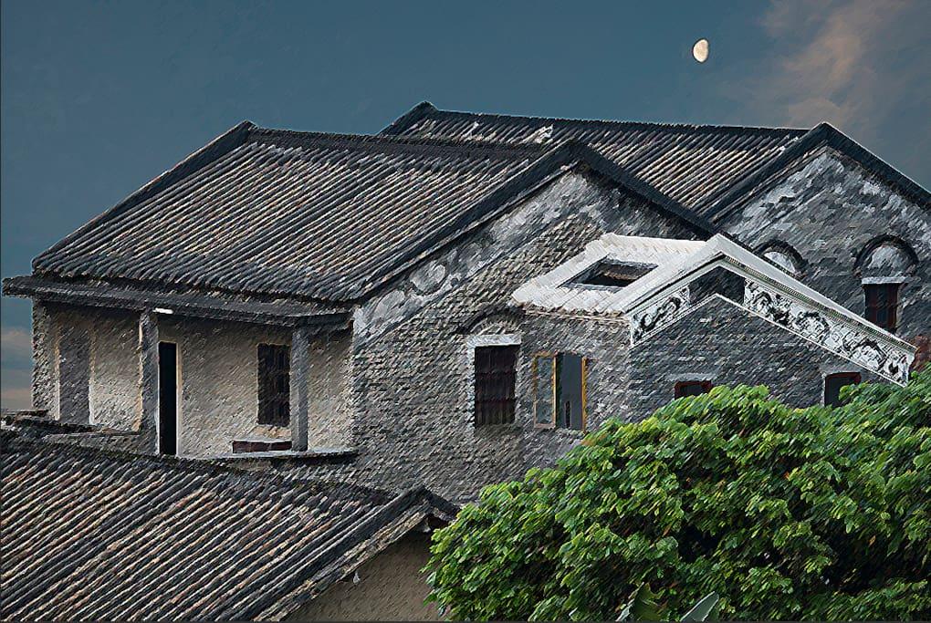 月上海棠全景