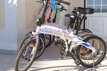 Rental bikes available for beautiful trips along the coast