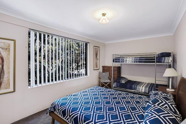 Bedroom One; Sleeps 4 people