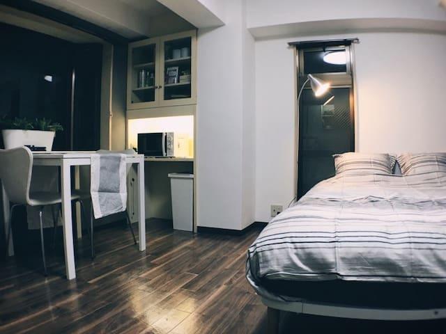 (한국인호스트)난바역 도톤보리 10분! 내집처럼 편안한 레지던스 하우스 - Chūō-ku, Ōsaka-shi - Appartement