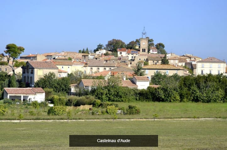 Maison de village calme avec jardin - Castelnau-d'Aude - Hus