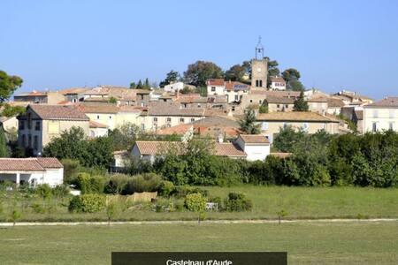 Maison de village calme avec jardin - Castelnau-d'Aude