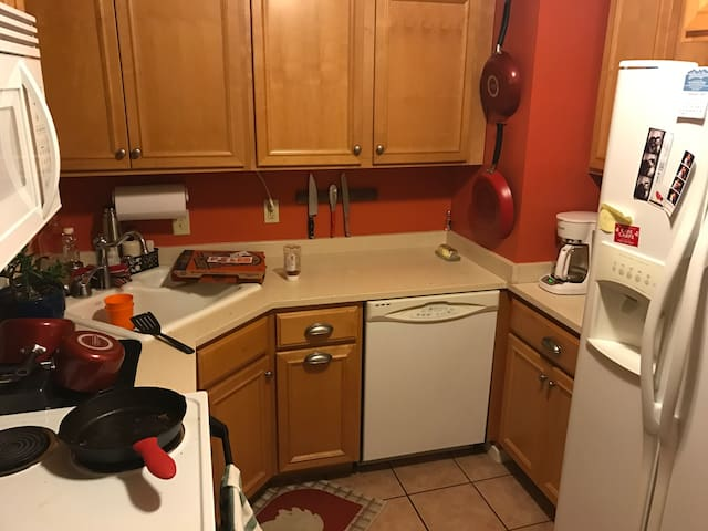 Private basement in cozy, fun, clean house - Madison - Huis