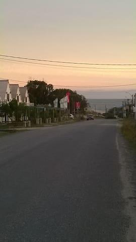 Vista de la casa a la playa