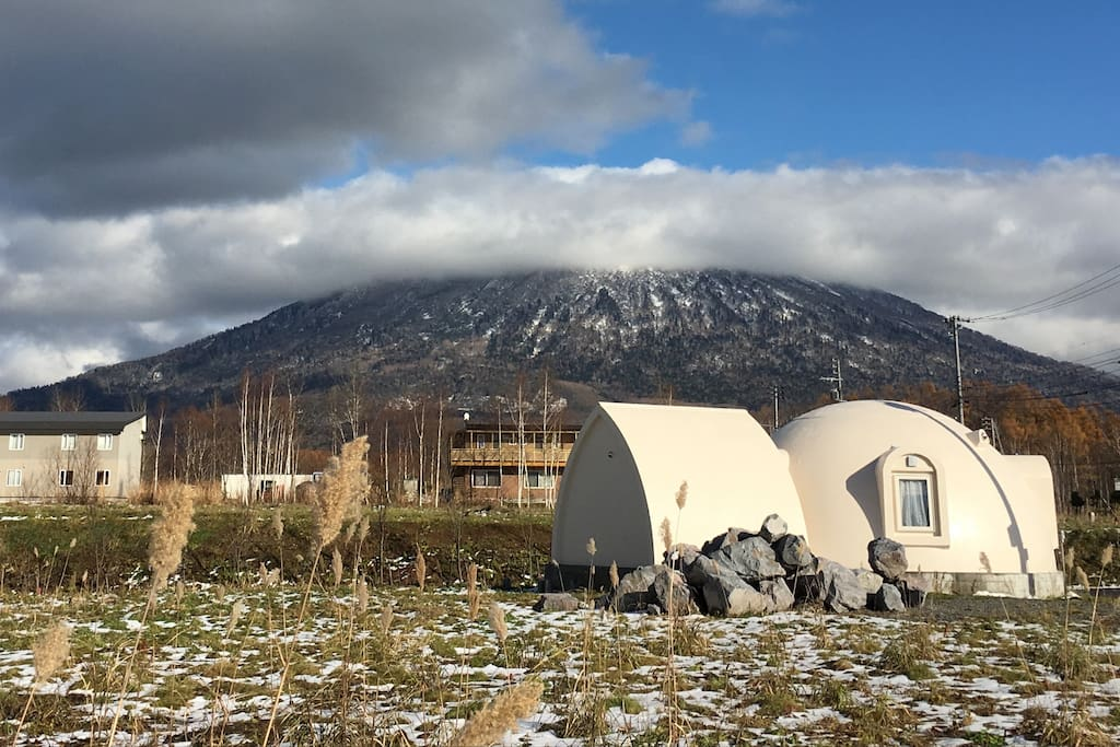 Domehouse niseko houses for rent in niseko ch hokkaid for Dome house in japan
