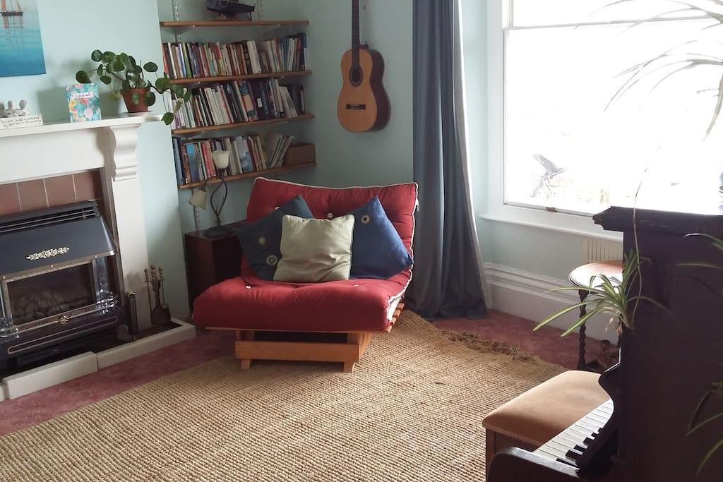 Peaceful ground floor bedroom overlooking verandah