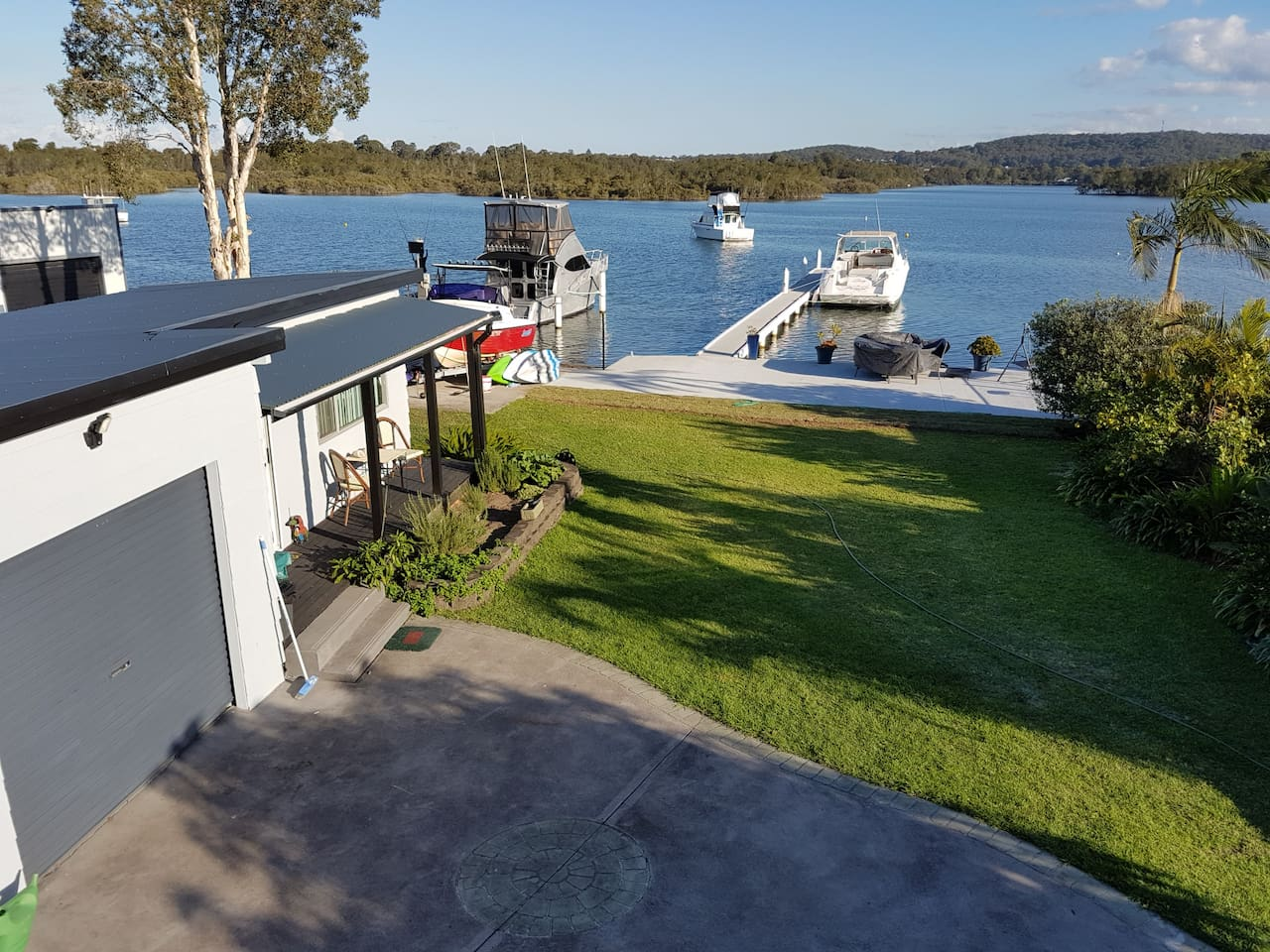 Unit 3 meters from waters edge as seen from house