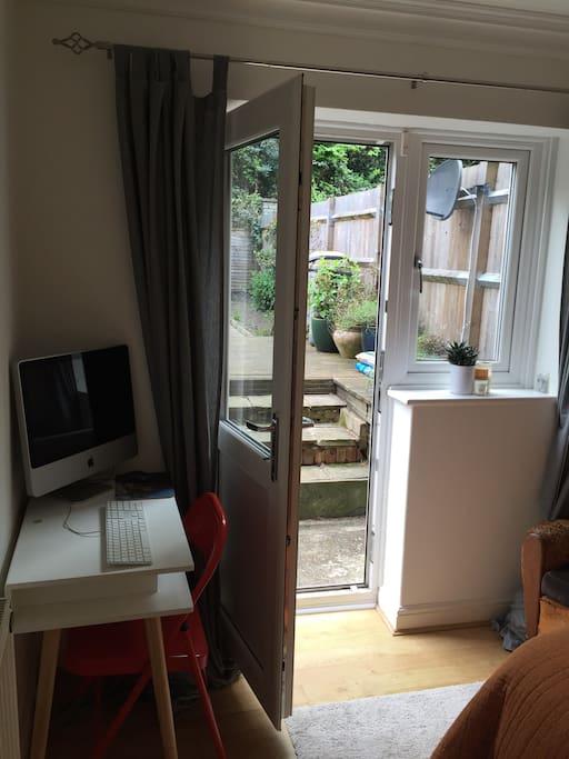 Bedroom with Mac