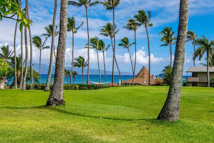 You will enjoy sitting on your ground floor lanai with views of Molokai and the Pacific.