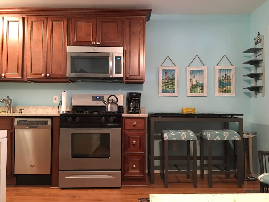 Newly renovated kitchen with dishwasher