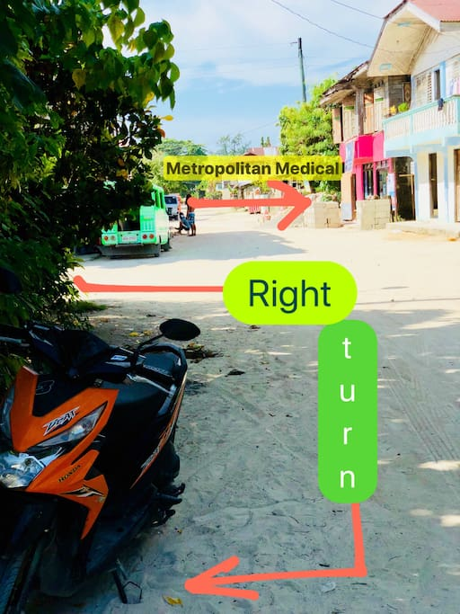 Landmark: opposite direction from Metropolitan Medical.