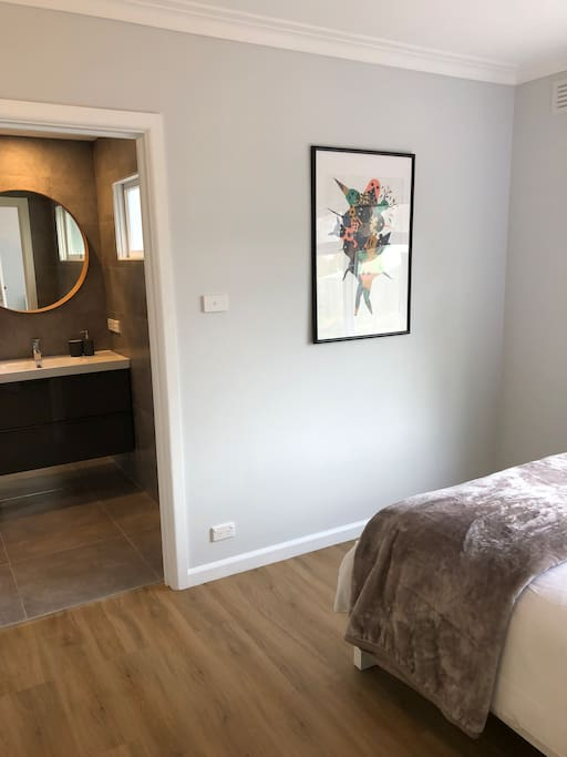 Master bedroom and entry to ensuite