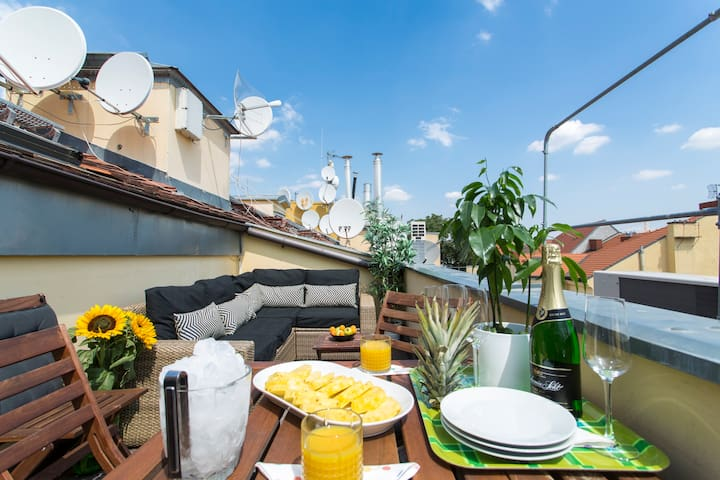 CHARMING PENTHOUSE APARTMENT DOWNTOWN PRAGUE