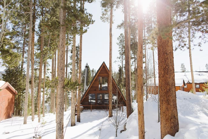 NEW! Classic Colorado A-frame on the creek