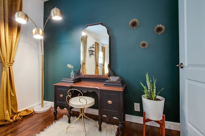 The master bedroom vanity is the perfect place to get ready for a night out!