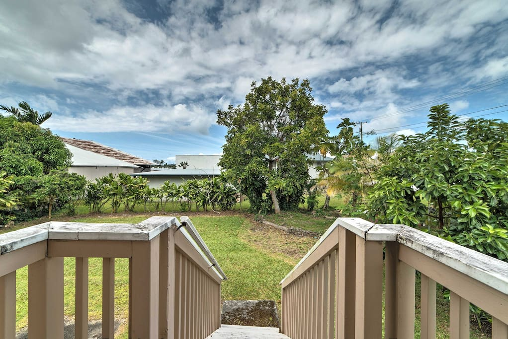 Enjoy the Hawaiian sun from the spacious, private backyard.