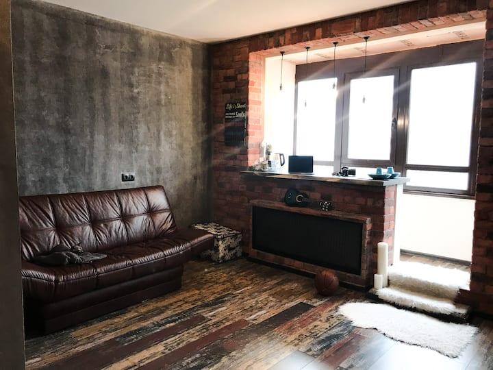 Уютная студия в стиле LOFT.