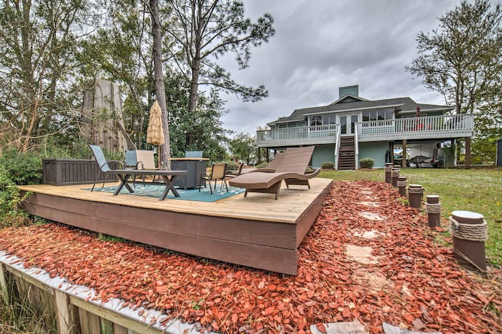 Unique Milton Home w/Fire Pit, Kayak, Dock & Grill