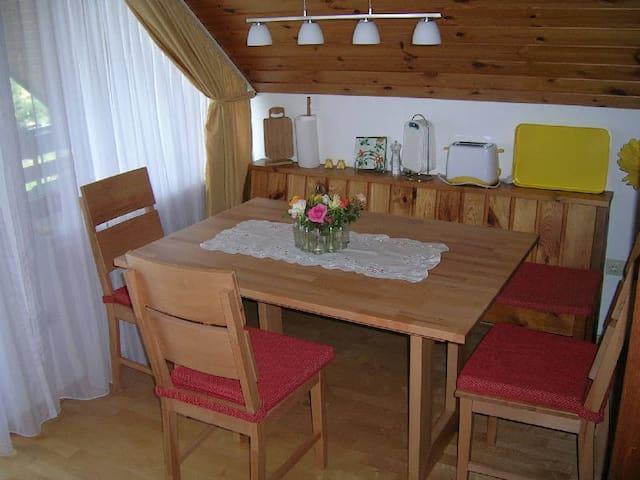 Haus Dorfschmiede, (Weilheim), Ferienwohnung, 45qm, 1 Schlafraum, max. 2 Personen