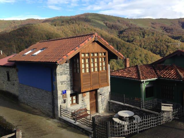 Casa especial de montaña, con galería y terraza. - Fresnedo - Haus