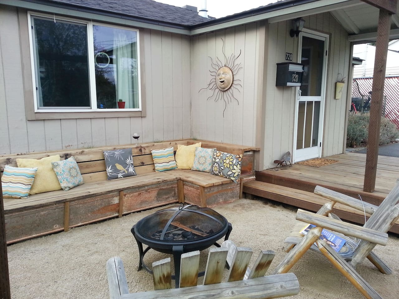 Favorite spot in the yard!  Our front porch is south facing and great for feeling the warmth of the sun!
