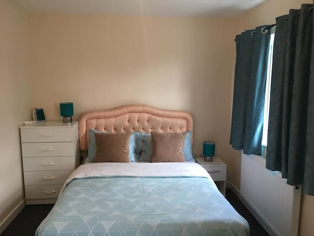 Spacious Teal Double Room