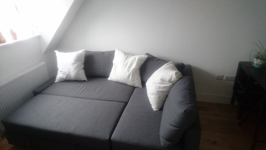 Comfy sofa bed in Epsom (easy access to London)