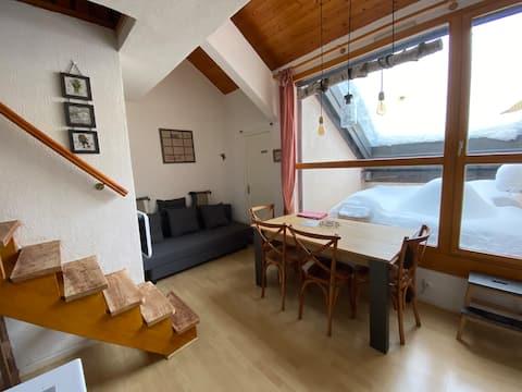 Duplex très cosy situé à Arêches route du Planay