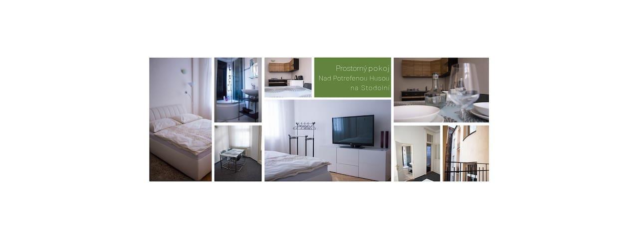 Prostorný pokoj nad Husou na Stodolní street - Ostrava - Apartment