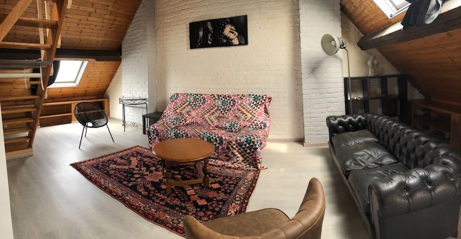 Duplex style loft