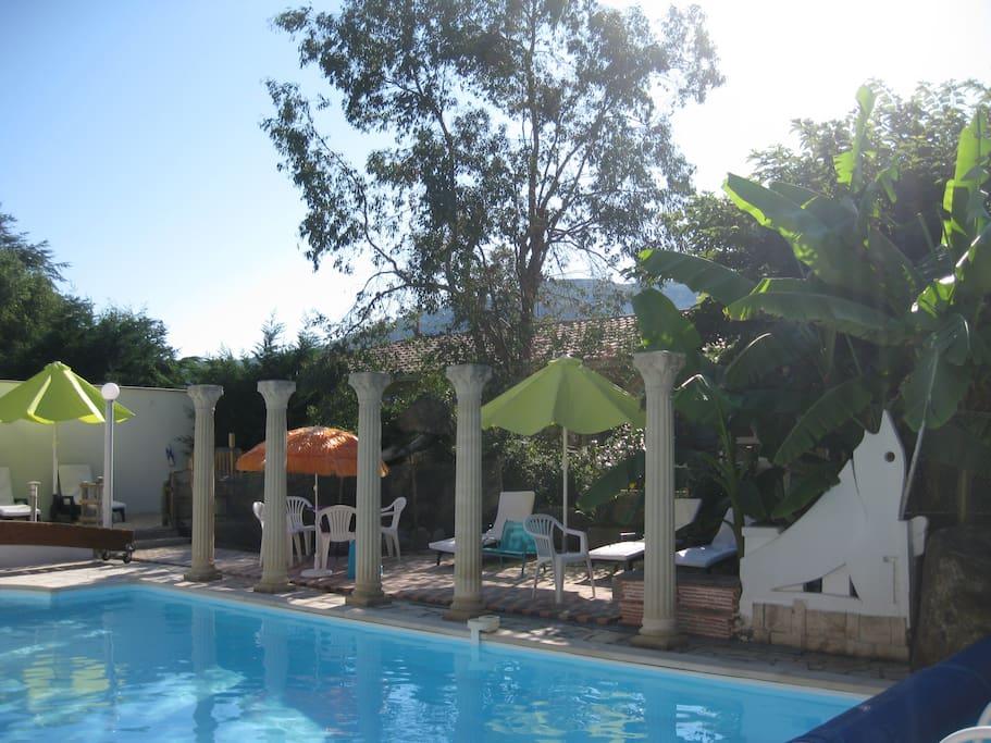 décorations piscine privée chauffée