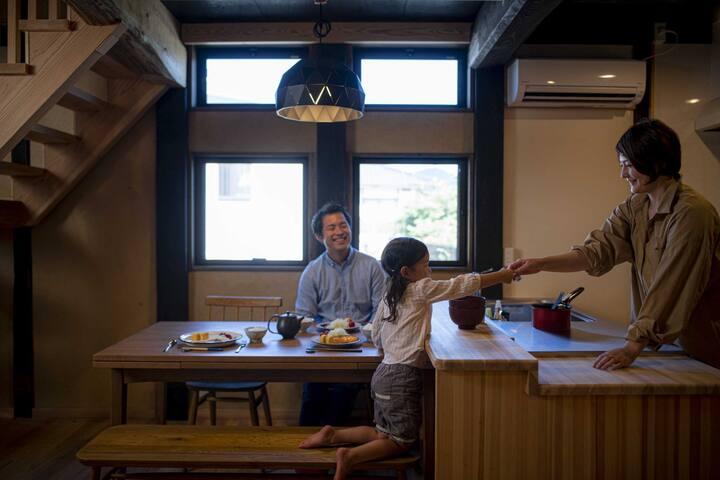 古民家での生活を感じる「宿屋 kugurido」