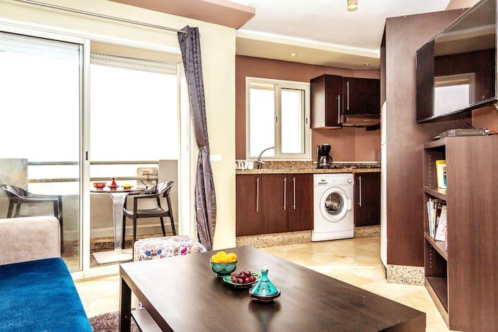Appartement meublé avec vue panoramique sur mer