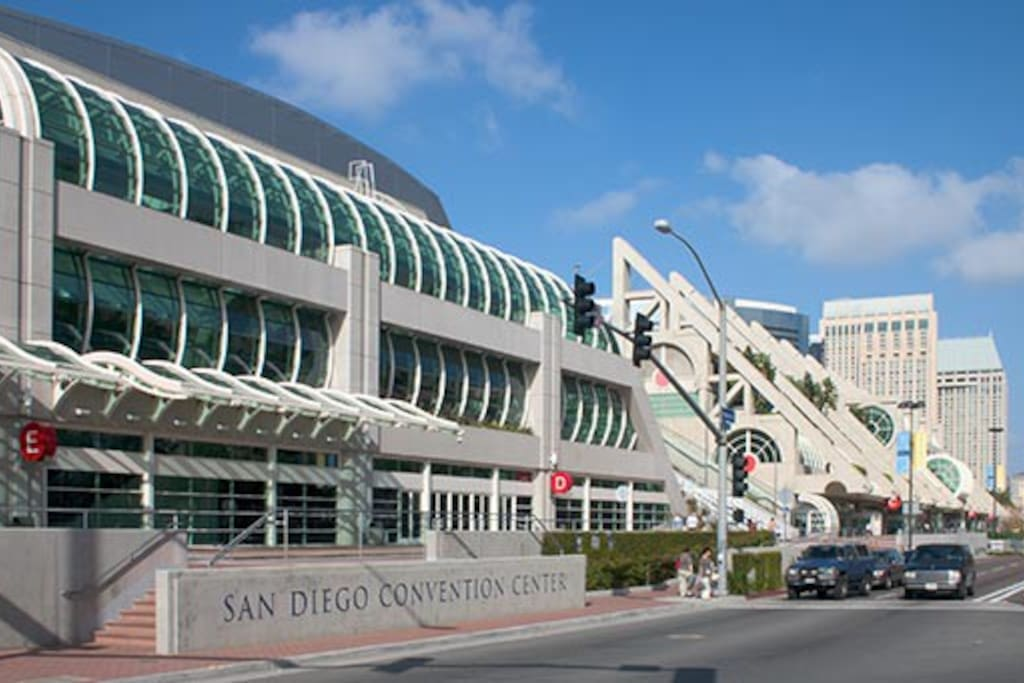Convention Center is a nice 15 min walk   from the apartment