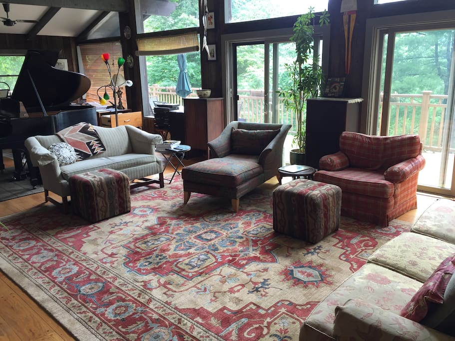 The living room on the main floor
