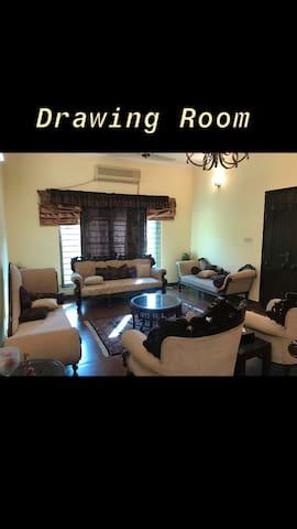 Full floor 2 Bed TV & Drawing Dining near DHA PH 5