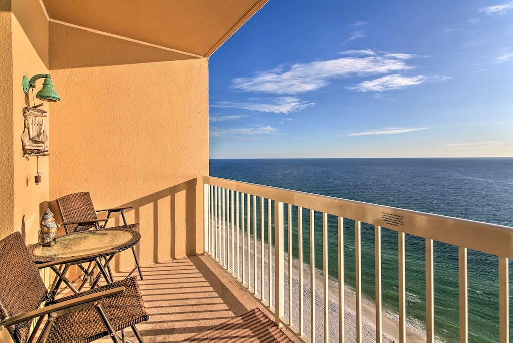 Sneak away and stay at this vacation rental condo in Panama City Beach!
