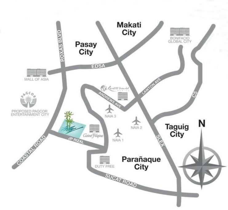 Near NAIA airport, MOA, Near Casino & Duty free