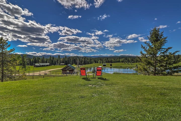 Trego Resort -Style Cabin w/Lake,Trails & 40 Acres