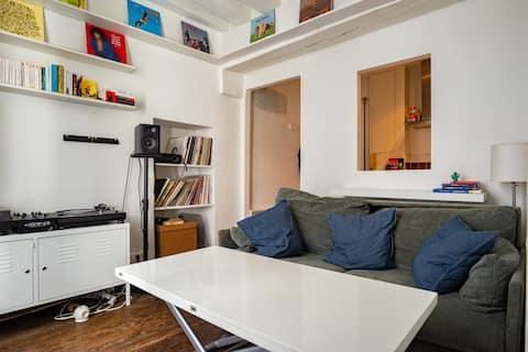 Arty living room