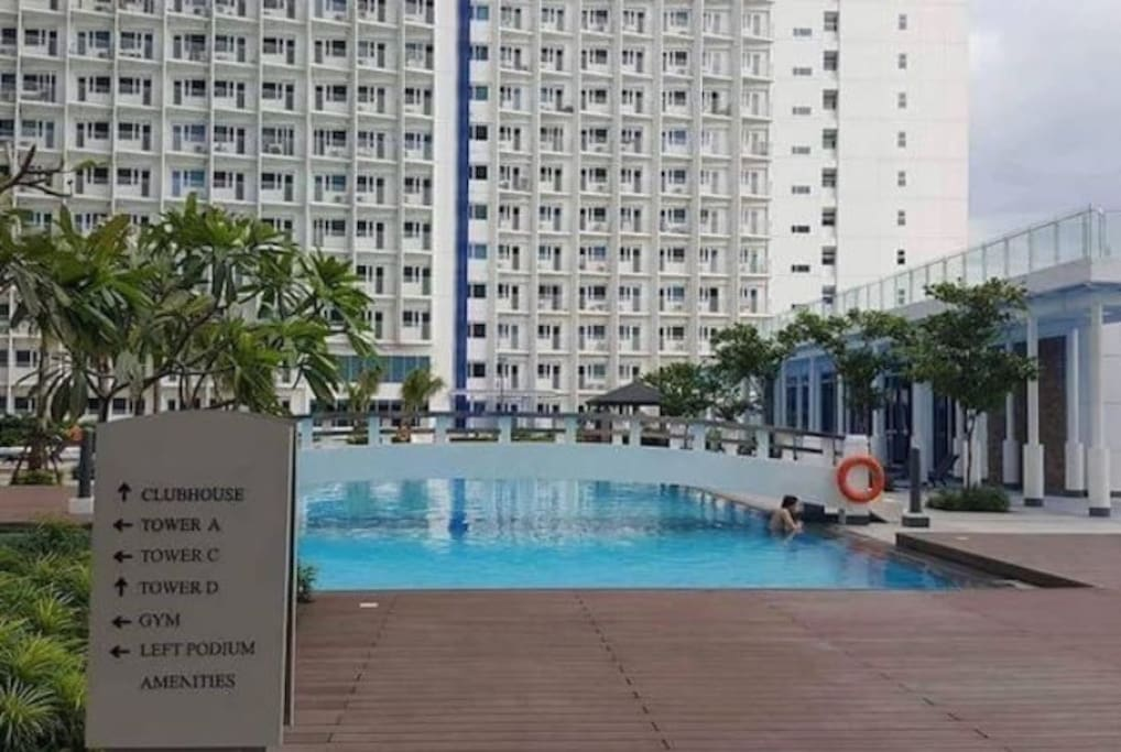 It has 6 swimming pools for the 4 towers! It's regularly cleaned at night time. Swimming hours start at 6AM and ends at 10PM daily.