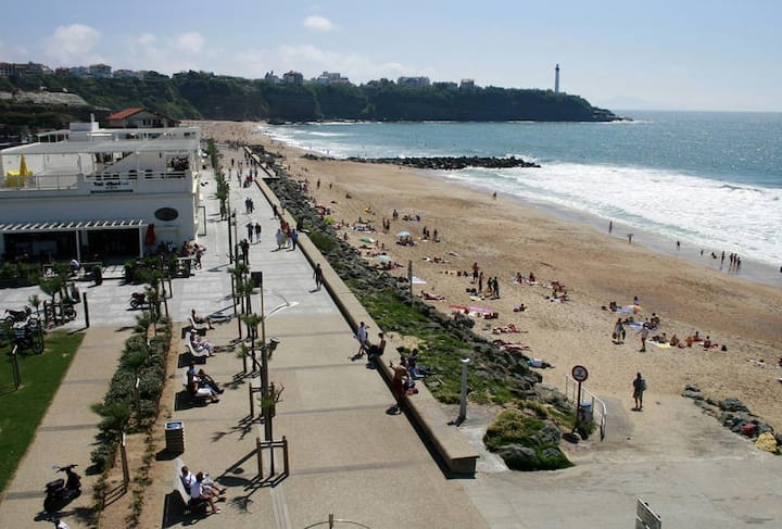 Close to the Biarritz beaches