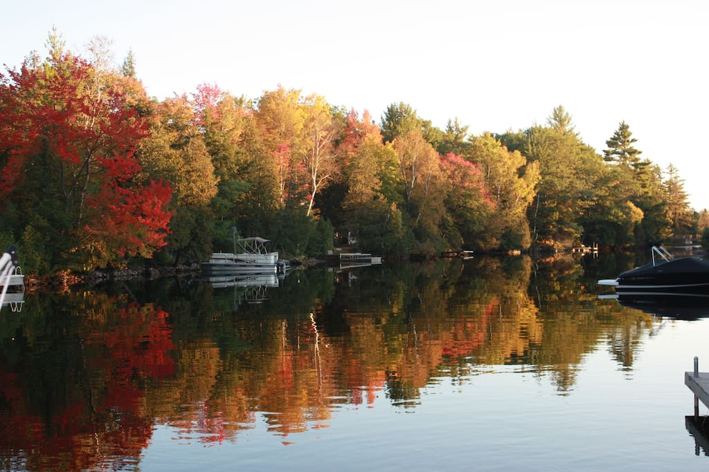 Enjoy the Fabulous Fall Colours! The river reflections are spectacular.